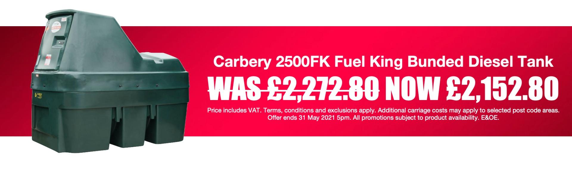 Carbery 2500FK Fuel King Bunded Diesel Tank Spring 2021 Promotion