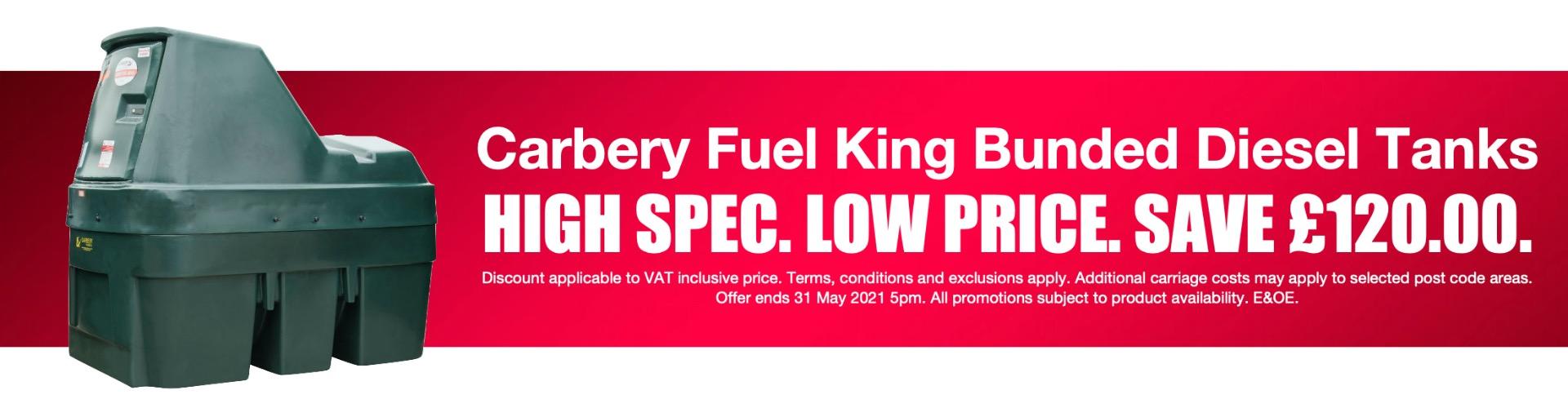 Carbery Fuel King Bunded Diesel Tanks Spring 2021 Promotion