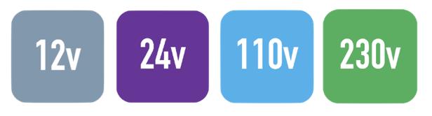 Display of Fuel Station Voltages from 12v to 230v