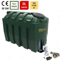 Harlequin 2525ITE Horizontal Bunded Heating Oil Tank