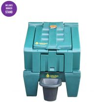 300kgs Plastic Coal Bunker with Stand - Carbery 6 Bag