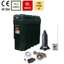 Carbery 1000SBU Superslim Slimline Ultra Bunded Heating Oil Tank with Apollo Ultrasonic Tankpack