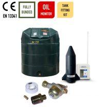 Carbery 1350VBU Vertical Bunded Oil Tank with Apollo Ultrasonic Oil Tank Fitting Kit
