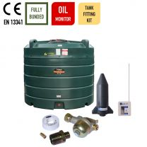Carbery 2500VBU Vertical Bunded Ultra Plastic Bunded Heating Oil Tank with Apollo Ultrasonic Tankpack