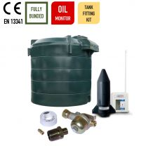 Carbery 6000VBU Vertical Bunded Ultra Plastic Bunded Heating Oil Tank with Apollo Ultrasonic Oil Tank Fitting Kit