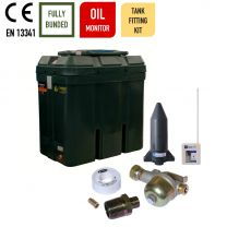 Carbery 650RBU Slimline Rectangular Combi R Bunded Heating Oil Tank with Apollo Ultrasonic Tankpack