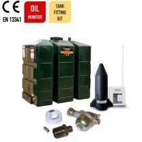 Carbery 650RP Combi R Plus Rectangular Slimline Plastic Single Skin Heating Oil Tank