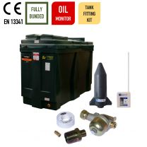 Carbery 900RBU Compact Rectangular Slimline Bunded Heating Oil Tank with Apollo Ultrasonic Tankpack