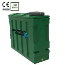 Diamond 1400SSL Superslim Slimline Bunded Oil Tank from Harlequin Manufacturing Limited