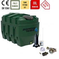 Diamond 1650HZB Slimline Bunded Heating Oil Tank with FREE Apollo Monitor and Fitting Kit