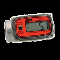 """GPI 1"""" BSP (F) Electronic Digital Turbine Flow Meter - Aluminium"""