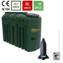 Harlequin 1225ITT Slimline Bunded Top Outlet Bunded Heating Oil Tank with Apollo Ultrasonic Oil Tank Monitor