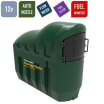 12v 1,300 litres Bunded Diesel Tank - Harlequin 1300SLFS Fuel Station with HVO Upgrade Option