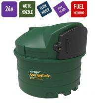 24v 2,500 litres Bunded Diesel Tank - Harlequin 2500FS Fuel Station with HVO Upgrade Option