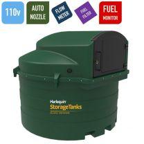110v 3,500 litres Bunded Diesel Tank - Harlequin 3500FS Fuel Station with HVO Upgrade Option