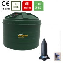 Harlequin 5400ITT Vertical Bunded Top Outlet Plastic Heating Oil Tank with Apollo Ultrasonic Oil Monitor