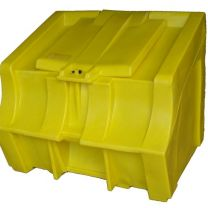 850 litres Plastic Grit Bunker - Carbery 12YL Road Salt Bin Yellow