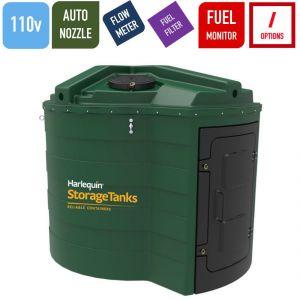 110v 5,000 litres Bunded Diesel Tank - Harlequin 5000FS Fuel Station