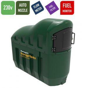 230v 1,300 litres Bunded Diesel Tank - Harlequin 1300SLFS Fuel Station with HVO Upgrade Option