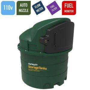 110v 1,400 litres Bunded Diesel Tank - Harlequin 1400FS Fuel Station with HVO Upgrade Option