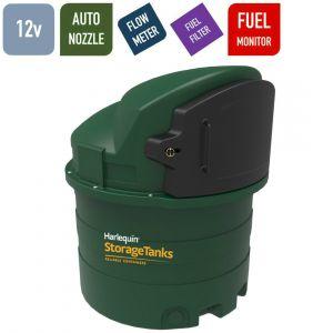 12v 1,400 litres Bunded Diesel Tank - Harlequin 1400FS Fuel Station with HVO Upgrade Option