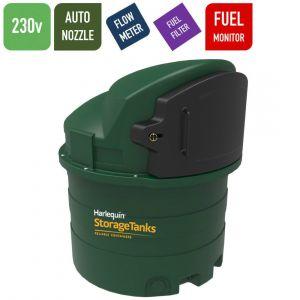230v 1,400 litres Bunded Diesel Tank - Harlequin 1400FS Fuel Station with HVO Upgrade Option