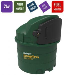 24v 1,400 litres Bunded Diesel Tank - Harlequin 1400FS Fuel Stationwith HVO Upgrade Option