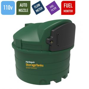 110v 2,500 litres Bunded Diesel Tank - Harlequin 2500FS Fuel Station with HVO Upgrade Option