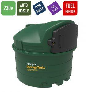 230v 2,500 litres Bunded Diesel Tank - Harlequin 2500FS Fuel Station with HVO Upgrade Option