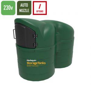 230v 2,500 litres Bunded Diesel Tank - Harlequin 2500SLFP-230 Fuel Point Slimline 230v