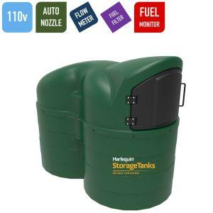 110v 2,500 litres Bunded Diesel Tank - Harlequin 2500SLFS Fuel Station Slimline with HVO Upgrade Option