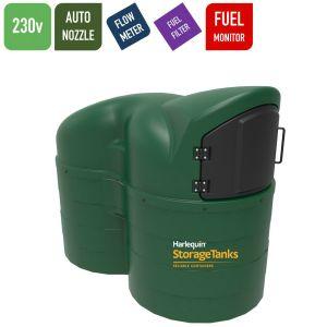 230v 2,500 litres Bunded Diesel Tank - Harlequin 2500SLFS Fuel Station Slimline with HVO Upgrade Option