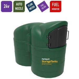 24v 2,500 litres Bunded Diesel Tank - Harlequin 2500SLFS Fuel Station Slimline with HVO Upgrade Option