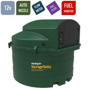 12v 3,500 litres Bunded Diesel Tank - Harlequin 3500FS Fuel Station with HVO Upgrade Option