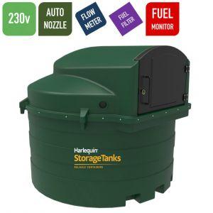 230v 3,500 litres Bunded Diesel Tank - Harlequin 3500FS Fuel Station with HVO Upgrade Option
