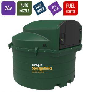 24v 3,500 litres Bunded Diesel Tank - Harlequin 3500FS Fuel Station with HVO Upgrade Option