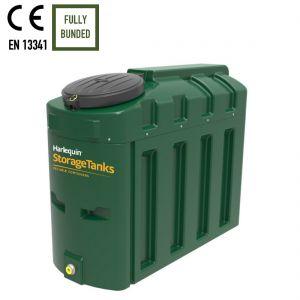 650 litres Bunded Oil Tank - Harlequin 650HQi Slimline