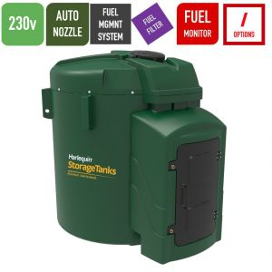230v 7,500 litres Bunded Diesel Tank - Harlequin 7500FS-230 Fuel Station