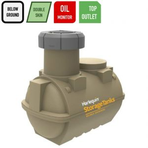 2,522 litres Underground Heating Oil Tank - Harlequin UGO2500 Double Wall