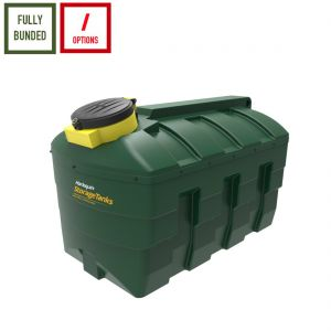 2,500 litres Bunded Waste Oil Tank - Harlequin ORB2500-HZ Horizontal