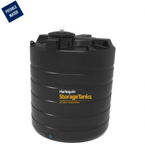 7,500 litres Potable Water Tank - Harlequin PW7500VT Vertical