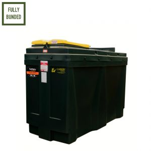 1,100 litres Bunded Waste Oil Tank - Carbery 1100R-WOIL Slimline