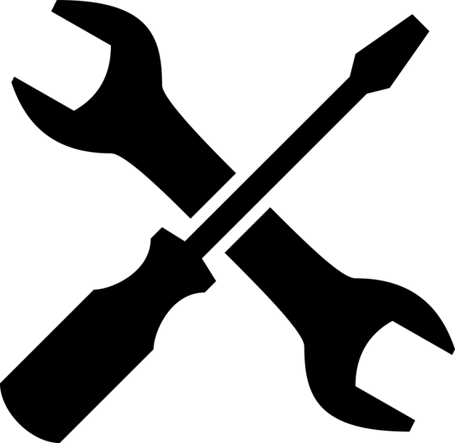 Silhouette of Spanner and Scredriver